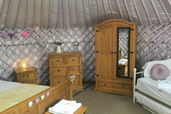 Lavender Yurt is in Perranporth, Cornwall