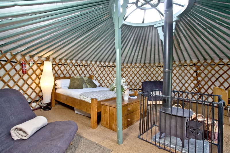 Yurt 4 - East Thorne Farm a holiday cottage rental for 6 in Bude,