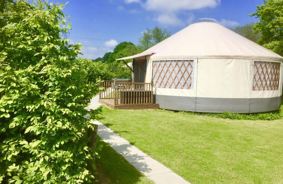 Oak Yurt a holiday cottage rental for 5 in East Hoathly,